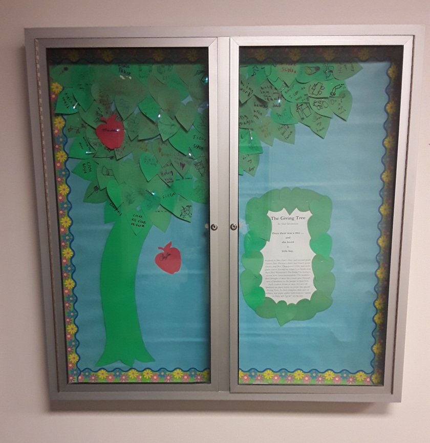 Giving Tree bulletin board