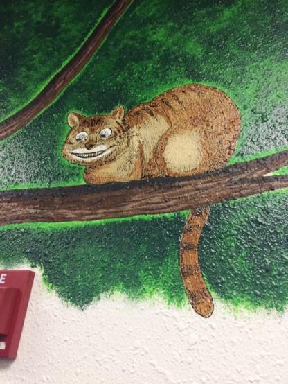 Cheshire cat in Boo's tree.