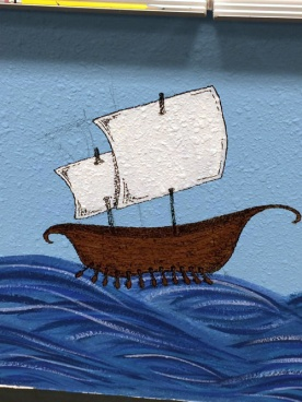Odysseus' ship. Excuse the pencil marks; they're gone now.